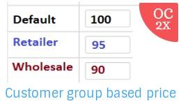 Customer Group based Price OC2x