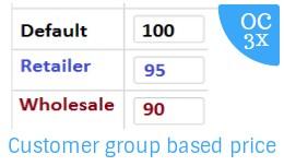 Customer Group based Price OC3x