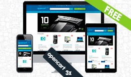 Free Opencart theme with improvements blue or da..