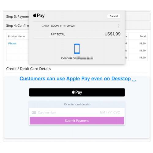 OpenCart - (1 x-3 x) Stripe PRO :: Apple Pay :: SCA :: 3D Secure