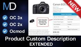 Product Custom Description Extended