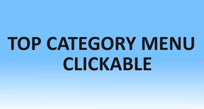Top Category Menu Clickable