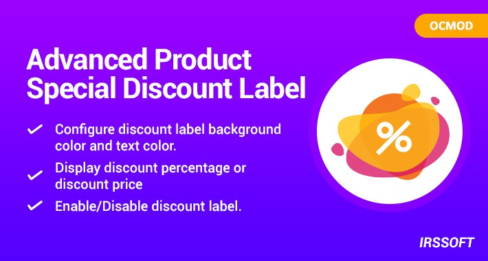 Advanced Product Special Discount Label(OCMOD)