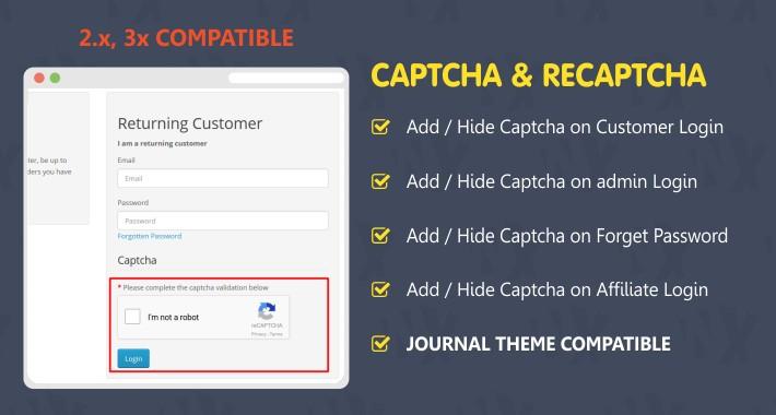 CAPTCHA & RECAPTCHA - Add/Hide