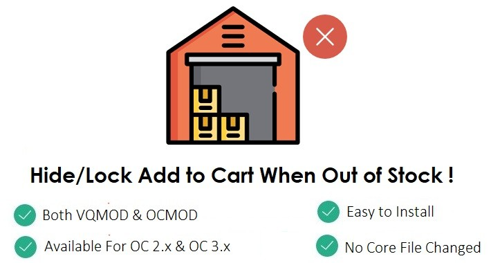 Disable Add to Cart When Out of Stock (For OC 2.x & 3.x)