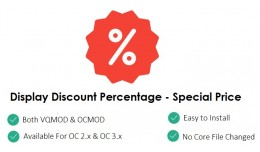 Show/Display Discount Percentage - For Special P..