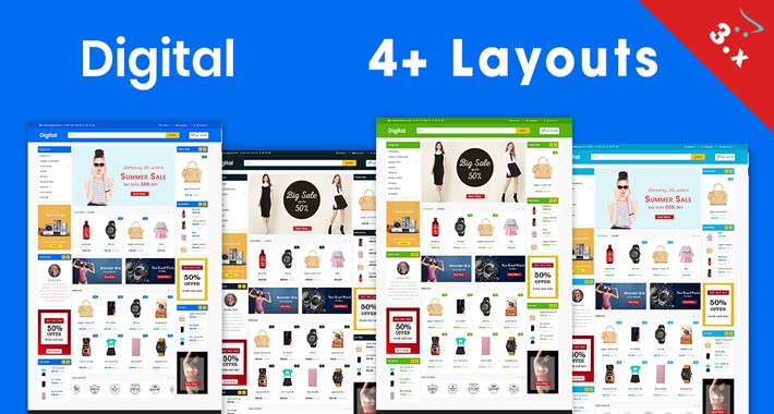 Digital OpenCart 3.0.2.0 Theme (Electronics,Fashion,tools)