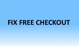 Fix Free Checkout
