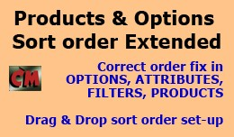 Products and Options Sort order Extended