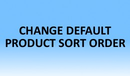 Change Default Product Sort Order