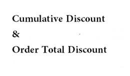 Cumulative Discount & Order Total Discount