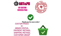 My Custom Success Page by order, shipping, payment