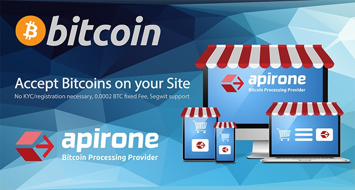 Accept Bitcoin Payments via Apirone Gateway