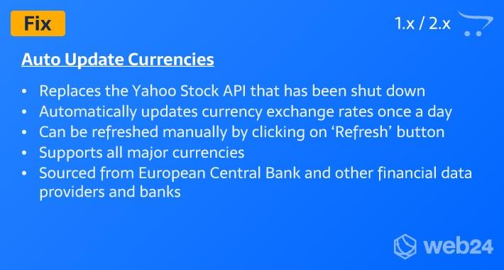 Auto Update Currencies (Fix)
