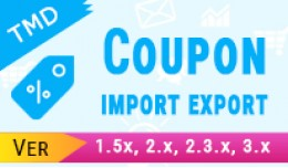 Coupon Import Export (1.5.x ,2.x & 3.x)