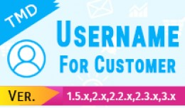 Username for customer(1.5.x , 2.x & 3.x)
