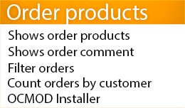 Extended orders list (Products and comment in or..