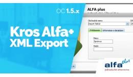 Export do účtovníckeho software Kros Alfa+ 1...