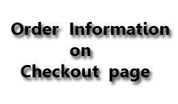 Order Information on Checkout Page