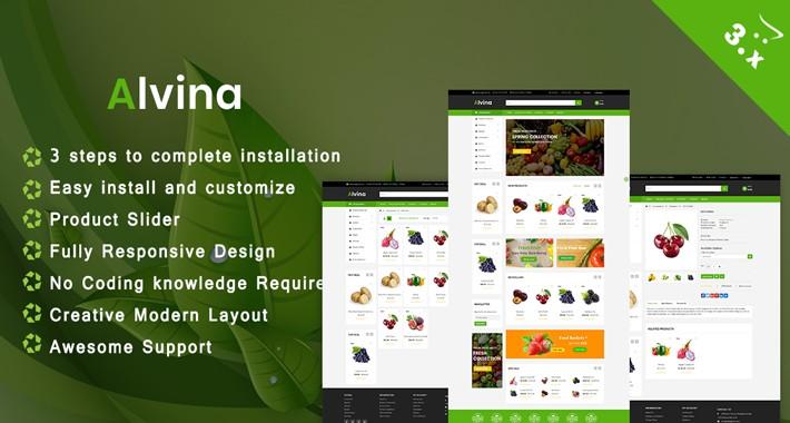 Alvina Multipurpose Opencart 3.x  Theme(organic, Farm)