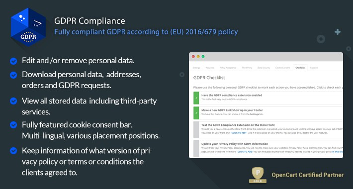 GDPR Compliance - GDPR Compliance for OpenCart Merchants