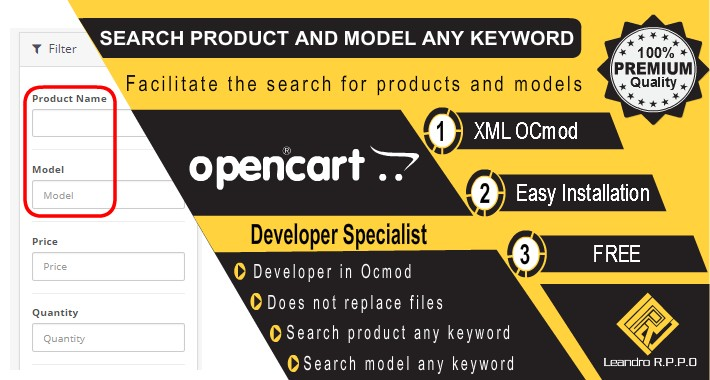 Admin Search Products and Model by Any keyword