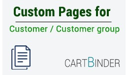 Custom Pages Based On Customer Group and Customers