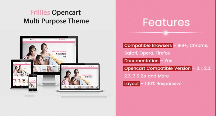 Frillies Opencart Multi Purpose Opencart Responsive Theme