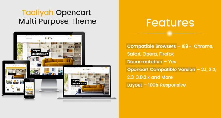Taaliyah Multi Purpose Opencart Responsive Theme