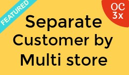 Separate customer by Multi store OC3x