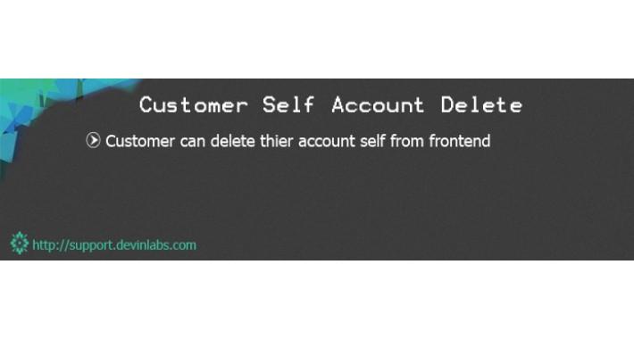 Customer Self Account Delete