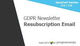 GDPR Newsletter Resubscription Emails