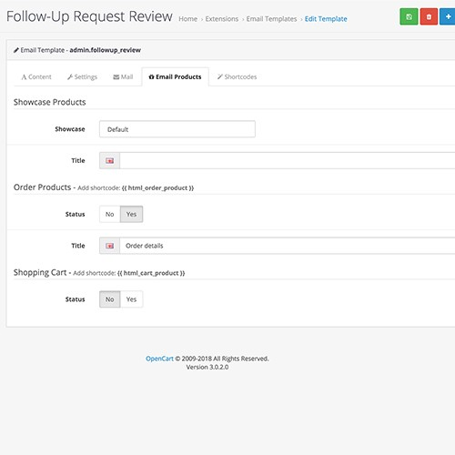 Opencart Order Follow Up Email Inc Request Review And More