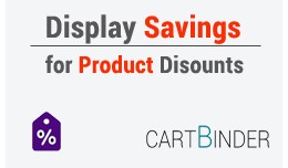 Show per product saving in cart/invoice/email cu..