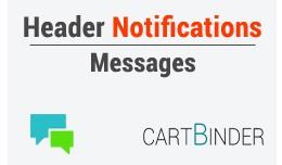 Header Notification Message - Alerts, Warnings, ..