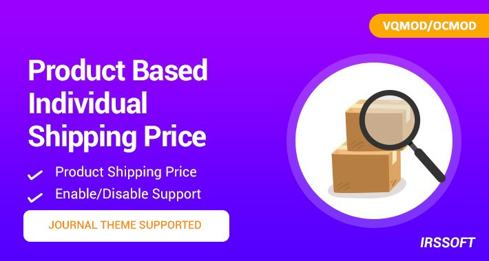 Product Based Individual Shipping Price VQMOD/OCMOD