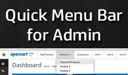 Quick Menu bar for OpenCart Admin Page [23xx]