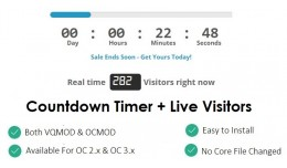CodingRays - Countdown Timer + Stock Left + Live..