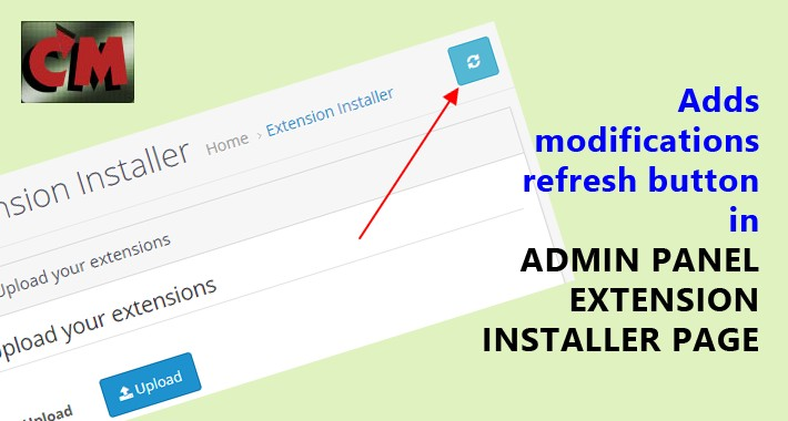 Admin modifications refresh button in installer page