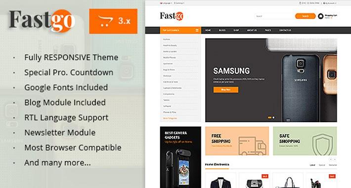 Fastgo - Multipurpose Responsive Opencart 3.x Theme