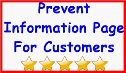 Prevent Information Page For Customers