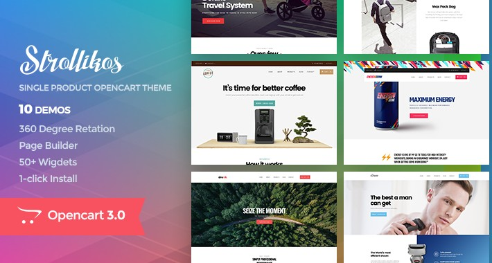 Unique Single Product Opencart Theme - Pav Strollikos