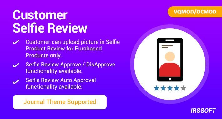 Customer Selfie Review VQMOD / OCMOD