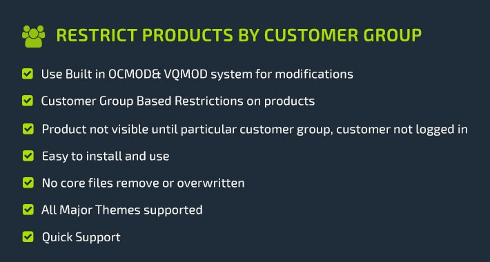 Restrict Products Customer Group