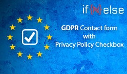 GDPR Contact form with Privacy Policy Checkbox