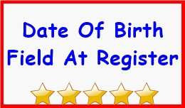 Date Of Birth Field At Register