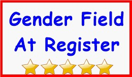 Gender Field At Register