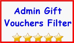 Admin Gift Vouchers Filter