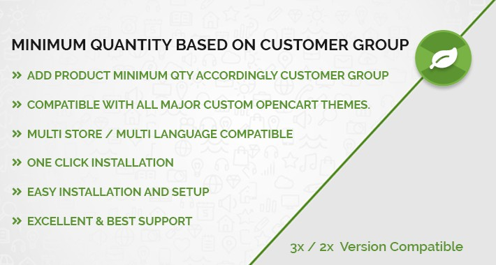Product Minimum Quantity accordingly Customer Group