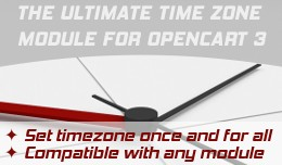 TimeZone Setting for Opencart 3 (Bonus:Set order..